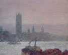 Childe Hassam : Houses of Parliament Early Evening 1898 : $389