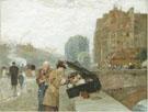 Childe Hassam : The Quai St Michel 1888 : $389