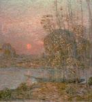 Childe Hassam : Late Afternoon Sunset 1903 : $389