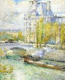 Childe Hassam : Le Louvre Et Le Pont Royal : $389