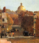 Childe Hassam : Mount Vernon Street Boston 1890 : $389
