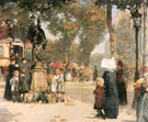 Childe Hassam : Paris Street Scene 1887 : $389