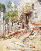 Childe Hassam : Riggers Shop at Provincetown Mass : $389