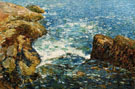 Childe Hassam : Surf and Rocks 1906 : $389