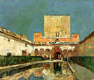 Childe Hassam : The Alhambra Aka Summer Palace of the Caliphs Granada Spain c1883 : $389