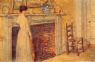 Childe Hassam : The Fireplace 1912 : $389