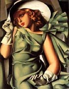 Tamara de Lempicka : Girl In Green : $369