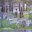 Gustav Klimt : The Church in Cassone : $355