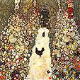 Gustav Klimt : Garden Path with Chickens : $345