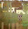 Gustav Klimt : Schloss Kammer on the Attersee 1908 : $345