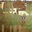 Gustav Klimt : Schloss Kammer on the Attersee 1908 : $345