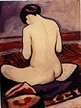 August Macke : Sitting Nude 1911 : $335