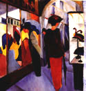 August Macke : Hat Shop 1913 : $325