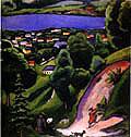 August Macke : Tegernsee Landscape 1910 : $369