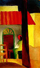 August Macke : Turkish Cafe I 1914 : $369