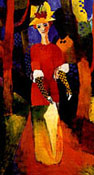 August Macke : Woman in Park 1914 : $325