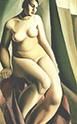 Tamara de Lempicka : Seated Nude 1925 : $369