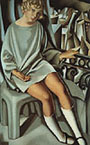 Tamara de Lempicka : Kizette on the Balcony 1927 : $375