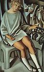 Tamara de Lempicka : Kizette on the Balcony 1927 : $375